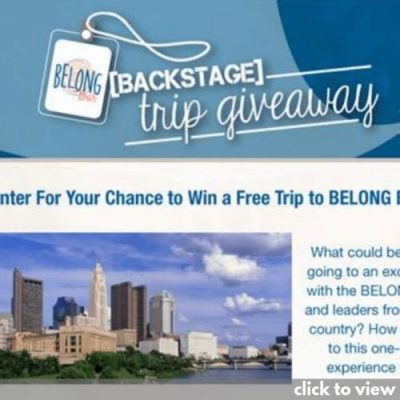 email marketing example - the belong tour