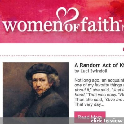 email marketing example - women of faith